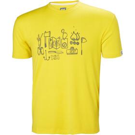 Helly Hansen Skog Graphic T-Shirt Uomo, dandelion